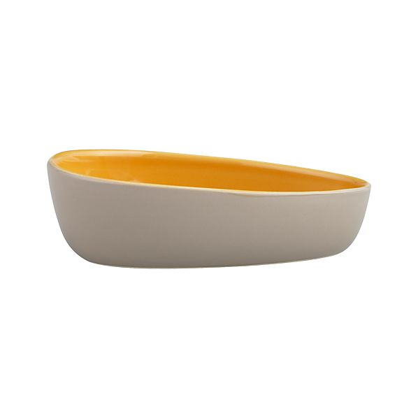 Olson Grey-Orange Bowl
