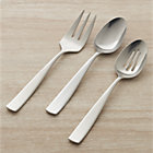 Olympic 3-Piece Serving Set: serving fork, pierced serving spoon and serving spoon.