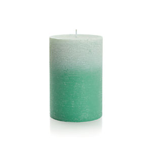 "Ombre Jade Green 4""x6"" Pillar Candle"