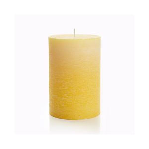 "Ombre Yellow 4""x6"" Pillar Candle"