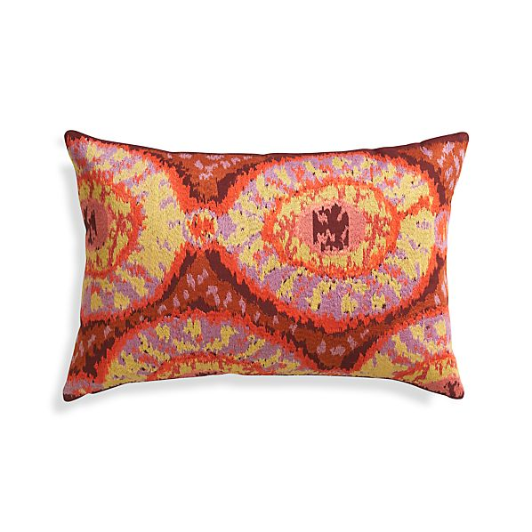 "Onassis 24""x16"" Pillow with Feather-Down Insert"