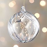 Optic Glass Ball Ornament