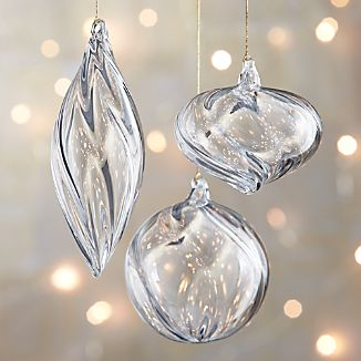 Optic Glass Ornaments