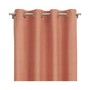 Orange Chambray Grommet Curtain Panels