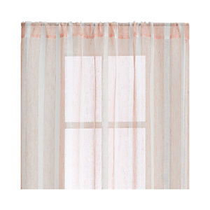 Orange Linen Stripe Curtains