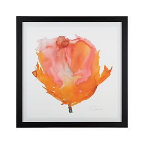 Orange Poppy Print