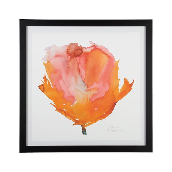 Orange Poppy Print