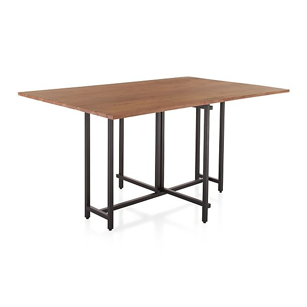 Origami drop leaf dining table in dining tables crate for Dining room tables drop leaf