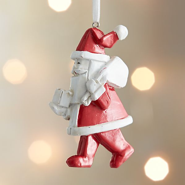 Origami Santa With Presents Ornament