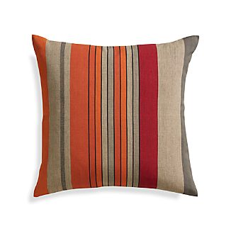 "Orilla Stripe 20"" Pillow with Down-Alternative Insert"