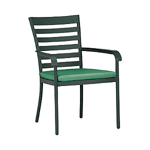 Orleans Dining Chair with Sunbrella® Bottle Green Cushion