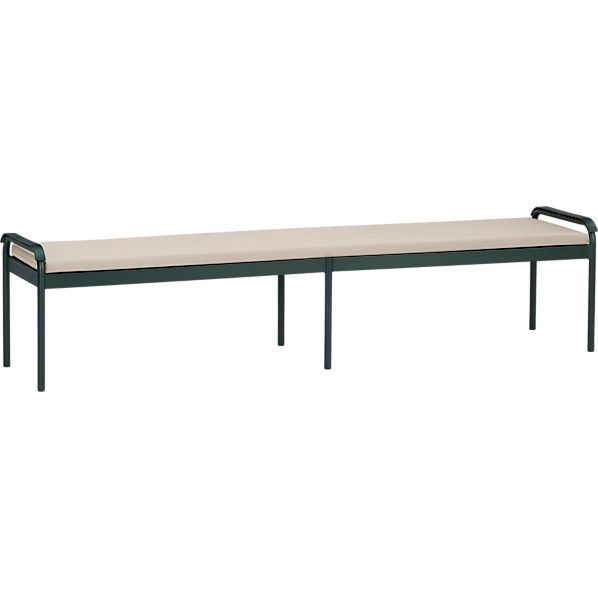 Orleans Large Dining Bench with Sunbrella® Stone Cushion