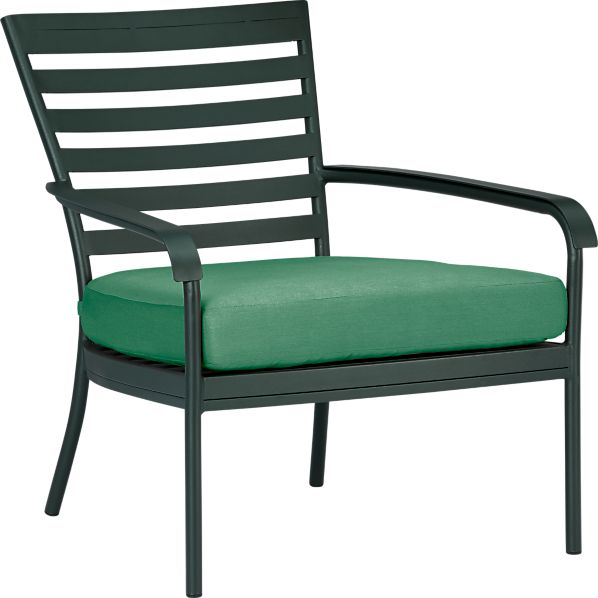 Orleans Lounge Chair with Sunbrella® Bottle Green Cushion