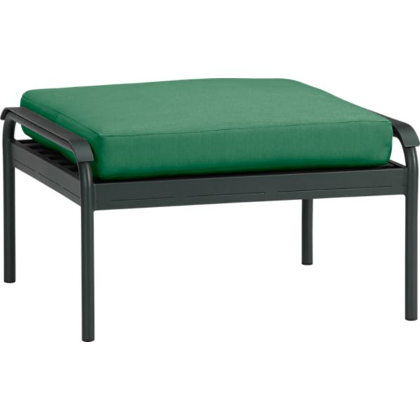 Orleans Ottoman with Sunbrella® Bottle Green Cushion