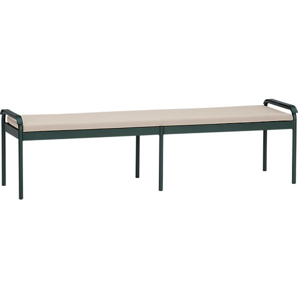 Orleans Small Dining Bench with Sunbrella® Stone Cushion