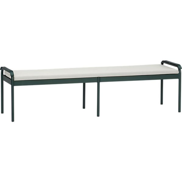 Orleans Small Dining Bench with Sunbrella® White Sand Cushion
