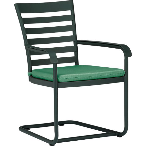 Orleans Spring Dining Chair with Sunbrella® Bottle Green Cushion