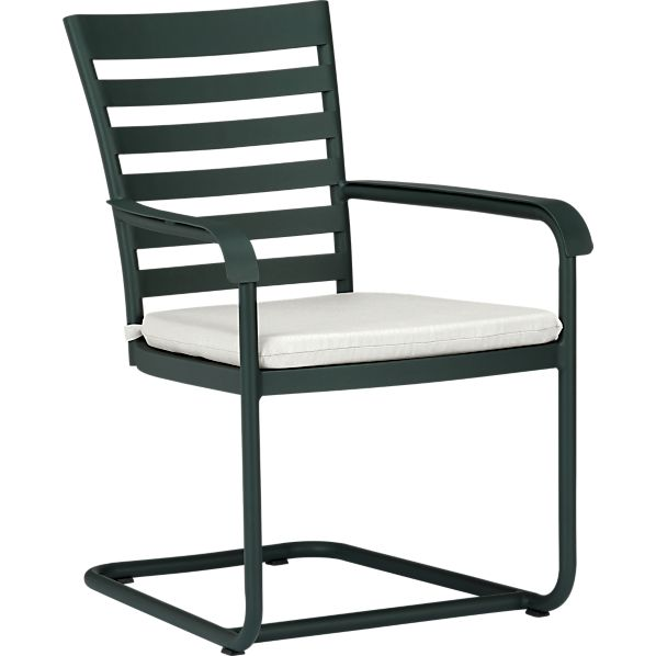 Orleans Spring Dining Chair with Sunbrella ® White Sand Cushion