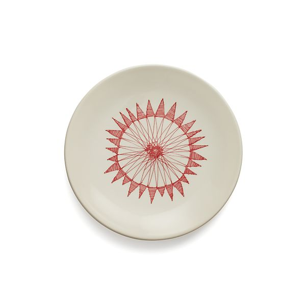 "Red Ornament 7"" Plate"