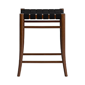 "Oslo Black 24"" Backless Counter Stool"