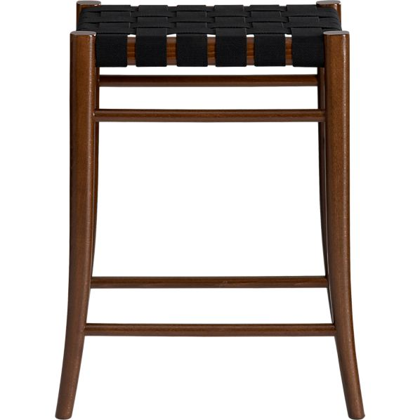 "Oslo Black 24"" Backless Bar Stool"