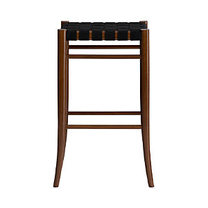 "Oslo Black 30"" Backless Bar Stool"