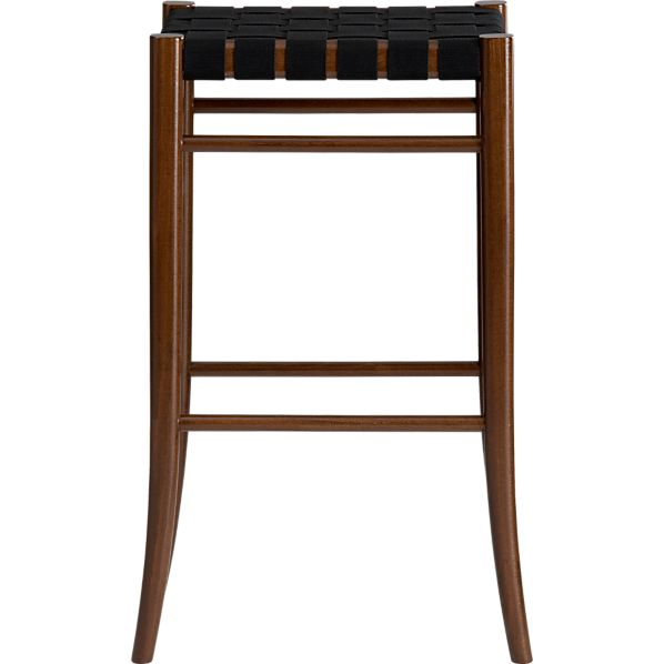 "Oslo Black 30"" Backless Barstool"