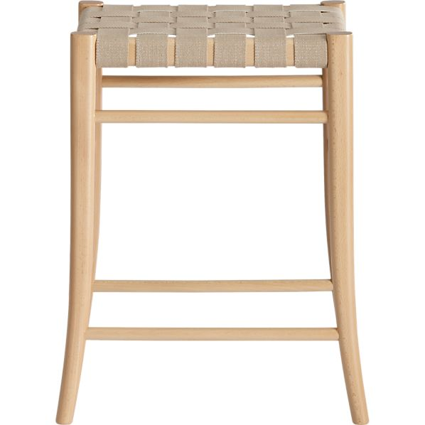 "Oslo Natural 24"" Backless Bar Stool"