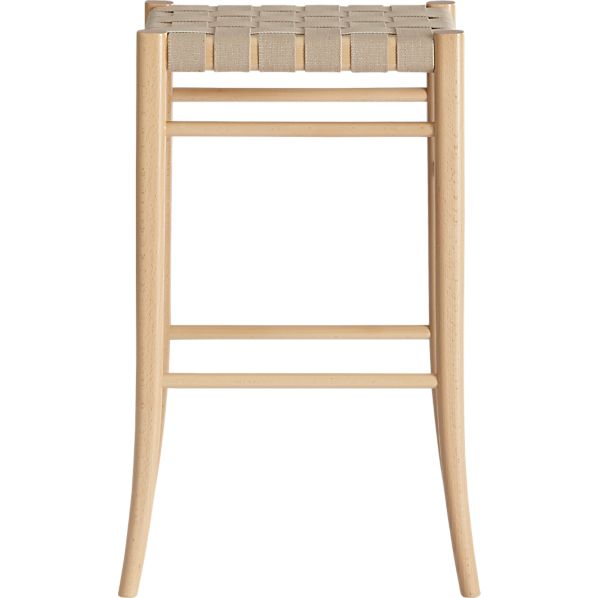 "Oslo Natural 30"" Backless Bar Stool"