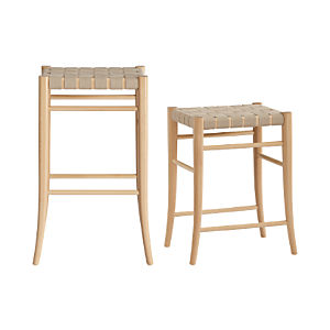 Oslo Natural Backless Bar Stools