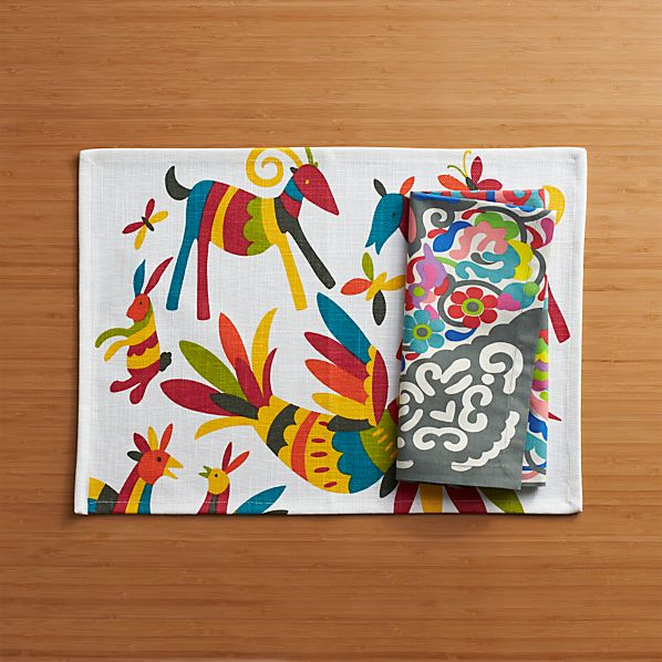 Otomi Placemat and Carnivale Napkin