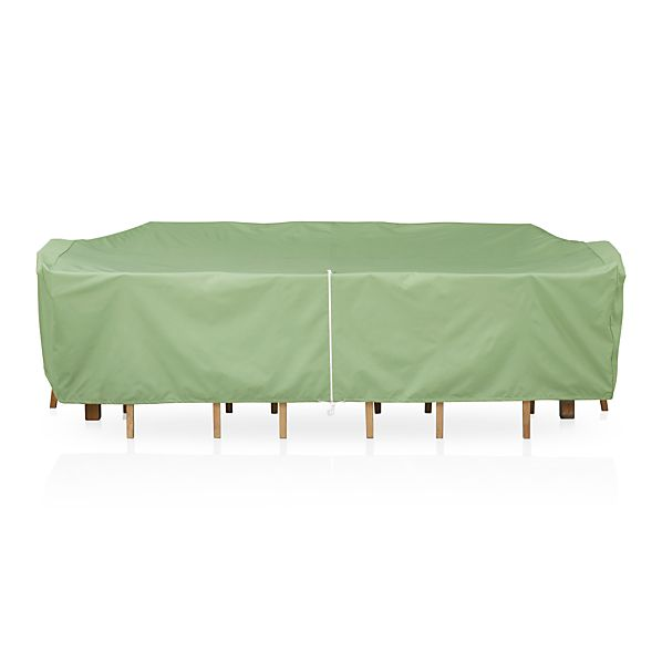 Large Rectangular Table/Chairs Cover with Umbrella Option