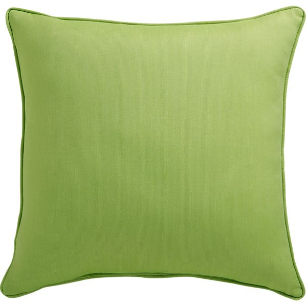 "Sunbrella® Kiwi 20"" Sq. Outdoor Pillow"