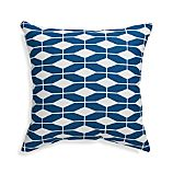 "Aldo Blue 20"" Sq. Outdoor Pillow"