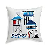 "Pier Scape 20"" Sq. Outdoor Pillow"