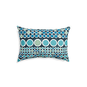 "Circles 20""x13"" Outdoor Pillow"