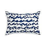 "Rolling Waves 20""x13"" Outdoor Pillow"