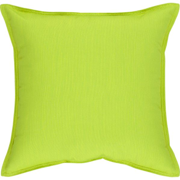 "Sunbrella® Apple 22"" Sq. Outdoor Pillow"
