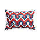 Aztec Chevron Paprika Outdoor Pillow.