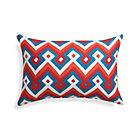 Aztec Chevron Paprika Outdoor Pillow.