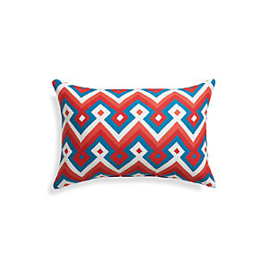 "Aztec Chevron Paprika 20""x13"" Outdoor Pillow"