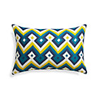 Aztec Chevron Turkish Tile Outdoor Pillow.