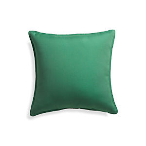 "Sunbrella® Bottle Green 20"" Sq. Outdoor Pillow"