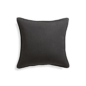 "Sunbrella® Charcoal 20"" Sq. Outdoor Pillow"