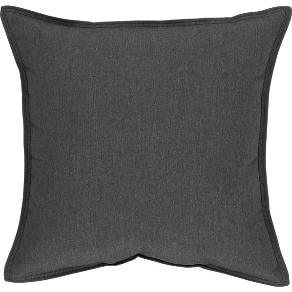 "Sunbrella® Charcoal 22"" Sq. Outdoor Pillow"