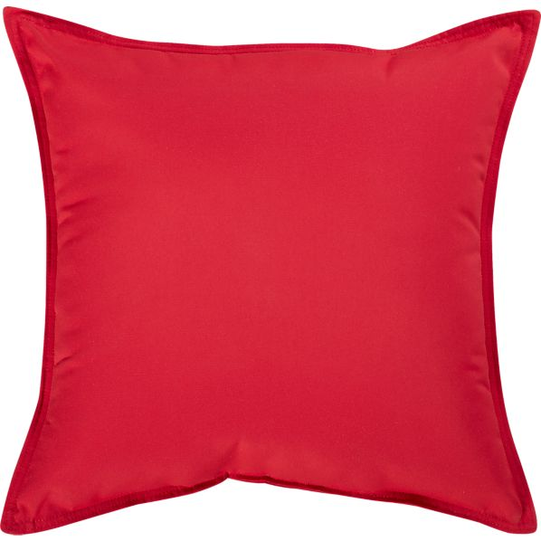 "Sunbrella® Chili Pepper 22"" Sq. Outdoor Pillow"