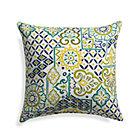"Global Tiles 20"" Sq. Outdoor Pillow."