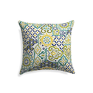 "Global Tiles 20"" Sq. Outdoor Pillow"
