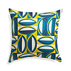 "Graphic Turkish Tile 20"" Sq. Outdoor Pillow."