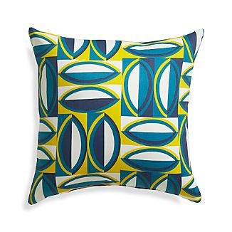 "Graphic Turkish Tile 20"" Sq. Outdoor Pillow"